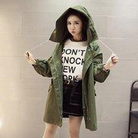Harajuku Hoodie Trench Coots Женщины Письмо напечатаны негабаритные пальто с капюшоном Plus Размер Верхняя одежда Повседневная карманная молния Свободный Overcoat1