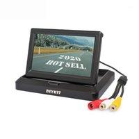 مواقف عكس نظام الشاشة مع شاشة عرض 5 بوصة TFT LCD الشاشة العالمية عكس السيارة الرؤية الخلفية للكاميرا DVD VCR1