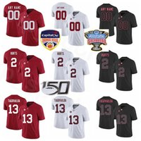 NCAA Alabama Crimson Tide Futbol Koleji 2 Jalen Jersey 10 Jerry Jeudy 13 Tua Tagovailoa 11 Henry Ruggs III 34 Damien Harris Hurts