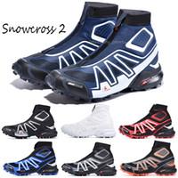 2021 Snowcross CS Trail Invierno Snow Stiefel Botines Black Volt Blue Botas Red Sock Chaussures para hombre Entrenadores de invierno Zapatos de bota de nieve