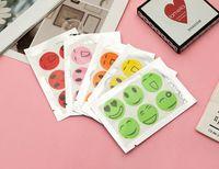 وجه مبتسم ملصقات مكافحة البعوض الكرتون البعوض ملصقات طارد البعوض 6 أبازيم طارد ألوان عشوائية EEC3260 خفيفة وآمنة
