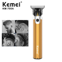 أحدث kemei km-700a الحلاق متجر الشعر الكهربائية المقص المهنية آلة الشعر اللحية المتقلب أداة لاسلكية قابلة للشحن