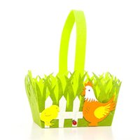 Мультфильм кролик пепельник пасхальная корзина кролик печать колофул яйцо нетканая сумка для детей подарки ребенка конфеты ведро корзины для корзины сумки G12004