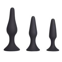 Ventosa copo anal plug three-peça vibrador vibrador anal plug prostate massager sucção copo masturbação remoto dildo an anal sexo brinquedos