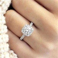 Yuanjin platinum chapeado coração oito seta simulação anel de noivado jóias