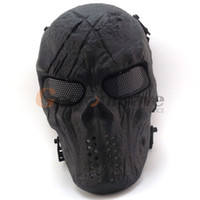 New Skull Skeleton Army Airsoft Tactical Paintball Maschera di protezione integrale Y200103