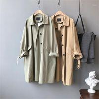Ailegogo NEW 2020 осень зима женская груза ветровка повседневная старинные карманы верхняя одежда большие длинные траншеи JK03931