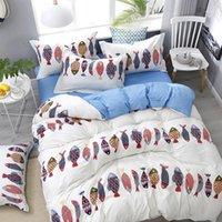 55 Cinza Leopardo Conjunto de cama de leito de impressão Linha de cama Lençóis Folhas de cama de pillowcases Conjuntos de cobertura de edredão 3/4 pcs King Rainha Double Twin Size1