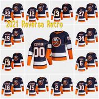 New York Islanders 2021 Reverse Retro Anders Lee Mathew Barzal Casey Cizikas Cal Clutterbuck Anthony Beauvillier Nick Leddy Jersey