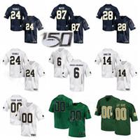 NCAA Notre Dame Fighting Irish Football College 87 Michael Mayer Jersey 24 Tremble 14 Kyle Hamilton 6 Jeremias Owusu-Koramoah 28 Tariq Bracy
