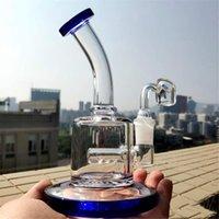 Kleine Glas Waterpohrer Gleitschale Dicke Glas Wasserbongs Klarer PERC HEADY GLAS OBLAGS Rauchen Zubehör Ash Catcher-Halsaus