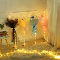 جديد عيد الحب يوم الصمام بالون ضوء مضيئة بوبو الكرة اللمعان أدى أضواء روز باقة روز هدية لعيد ميلاد حفل زفاف الديكور