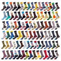2021 Nuevos calcetines de marea adultos europeos y americanos de los hombres de los hombres de los calcetines de algodón puro medias de tendencia otoño e invierno calcetines de tubos mujeres 200 estilos