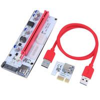 VER008S PCI-E RISER PCIE 1x do 16x Adapter 4Pin 6Pin SATA Power USB 3.0 Kabel PCIe Riser Card dla BTM Miner