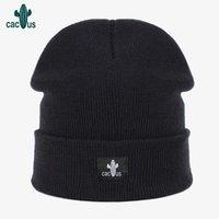 Шапочки для женщин Сплошной шерстяная утолщенной зимы Женские трикотажные Cap Hat вышивка Warm Soft Повседневный Cap Bonnet Skullies Hat
