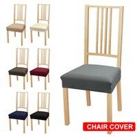 7 cores sólidas com cadeira de fivela cobertura grande cadeira elástica cobre slipcovers de assento Stretch removível restaurante lavável 201119