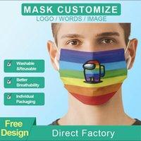 2021 Нестандартный логотип Маски для лица Модельные дизайнеры Взрослые Велосипедные Открытый Анти пыль Ветерзащитная Партия Маска Моющийся Многоразовый Комфорт Унисекс Маска