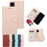 محفظة جلدية محفظة من الجلد المغناطيسي 2in1 حالات غطاء قابل للانفصال لفون 12 برو ماكس 11 XS XS MAX 7 8 زائد Samsung S20 S21 S30 Plus Note 20 S10