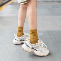 Erkek Çorap 2021 Şeker Renkli Kadın İlkbahar Sonbahar Pamuk Katı Renk Kore Ins Gelgit Sıcak Socks1