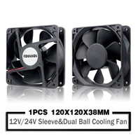 120mm 12cm 12038 Fan 12V 24V 120mm * 120mm * 38mm ventilateur de refroidissement brushless DC 120x120x38mm 2PIN PC Computer Case Cooler