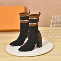 Высококачественные женские сапоги заостренные клин-платформы каблуки носки кожаные леди Martin Boots Presbyopia высота пятки 9 см лодыжка длинные туфли с коробкой