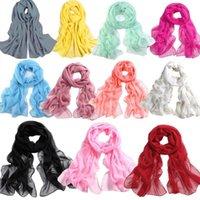 Шарфы женские шарф многоцветный персиковый цветущий печать длинные шифоновые мягкие обертки дамы плачья abrigos accesorios mujer # t5p