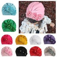 Caps Hüte 2021 Marke Mode Geboren Kleinkind Kinder Baby Jungen Mädchen Turban Baumwolle Bohnenmütze Hut Winterkappe Blume Donut Geschenke