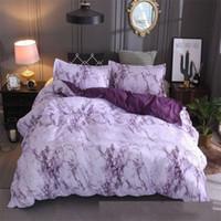 Set di biancheria da letto versatili Set di pietra Simplicity Plain Color Cotton Wadding per una trapunta Pillowslip King Size Nuovo 42xq K2