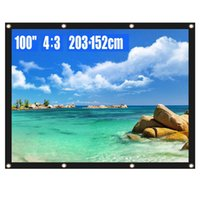 Projection Screen 60 72 84 100 Inch 4: 3 HD Foldable Anti- Cre...