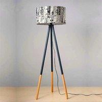 Hot Selling Creative Warm Personality Round Wood Vertikal Stativ Golvlampa Med Ljuskälla Oss Plug Moderna Design Golvlampor