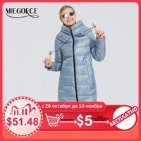 Зима Хлопок Одежда Длинные пальто хлопка Простой MIEGOFCE новый женский дизайн женщин зимы куртки Parka ветрозащитной куртки 201106