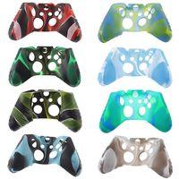 التمويه Gamepad حالة سيليكون ل Xbox One المضادة للانزلاق لعبة العرق والغبار مقبض سيليكون حالة وقائية حالة