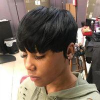 Парики для черных женщин Pixie Cut короткие человеческие парики для волос для женщин Bob полные кружевные фронтские парики с детскими волосами для африканцев американский
