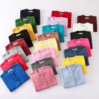 Kinder Jungen Mädchen Pullover Designer Frühling Herbst Baby Gestrickte Strickjacke Kinder Jacken Süßigkeiten Farbe Weiche Pullover Casual Kleidung G20303