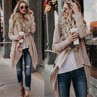Neue Ankunft Frauen Herbst Winter Pelz Flauschige Mischungen Warme Strickjacken Mantel Wasserfall Jacke Outwear
