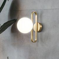 Nordic-Glasball Nachtwandleuchte Art und Weise Retro Messing Molecule Design Küchen-Foyer Studie dekorative LED-Innenbeleuchtung