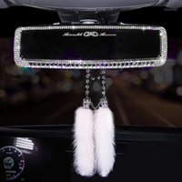 Crystal Diamonds Car Rear View Mirror Cover Bling Rhinestone...