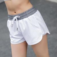 Быстрые сухие запуск шорты для женщин фитнес йога с шнуровкой женские пилатес Упражнения для тренажерных упражнений Тренажерный зал Высокая эластичная талия кг-460