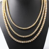 Hip Hop de plata de Bling del oro diamante de la CZ Baguette inicial de la cadena colgante letra Tenis regalo Collares para el Viernes Negro acc102
