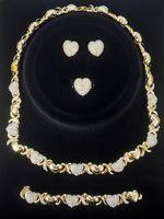 여성 목걸이에 대 한 XOXO 보석 세트 귀걸이 14K 골드 쥬얼리 세트 여성용 웨딩 쥬얼리 귀걸이 여성을위한 세트