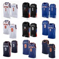 1 OBI Toppin Newyork 9 RJ Barrett 30 Randle Mitchell 2020-21 Black City Basketball Jersey S-3XL