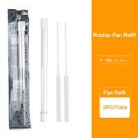 2 шт. / Труба механическая резиновая ручка Refil 2.3 мм круглый Refil 2.5x5 мм плоский повторный ремонт для эскиза резиновые окунистые канцтовары