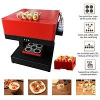 프린터 자동 4 컵 커피 프린터 CISS 시스템 Selfie PO 식용 잉크 카푸치노 비스킷 케이크 인쇄 기계 1