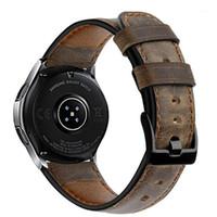 Bande de montre 22mm pour Samsung Galaxy Watch 46mm Crazy Horse Cuir Gear Gear Gear S3 Bracelet Frontier Huawei 2 GT Strap 46 mm1