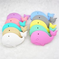 Chenkai 10PCS Silicone Whale Teether DIY Animal Baby Shower ...