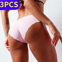 3pcs Ice Seta biancheria intima senza cuciture mutandine sexy slip tanga lingerie Bragas Sexy lingerie donna perizoma Breeches Brey Plus Size 201112