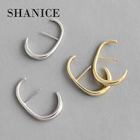 Stud Shanice 925 Sterling Silber Schmuck Ins Kalt Wind Minimalist C-förmige Ohrringe Persönlichkeit Nische Brincos