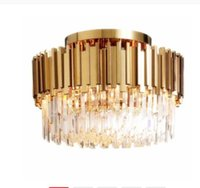 Luxury Crystal Ceiling for Living Room Modern Gold Round Lamp Led Home Interior Lighting Fixtures
