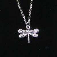 Moda 21 * 19 millimetri della libellula Collana Catena per la femmina del Choker creativo monili del partito regalo