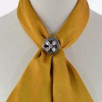 Pulsante sciarpa di seta doppio scopo angolo pulsante nero e colore Bianco Vetro rotonda sciarpa di seta Spilla Pulsante Dual Purpose